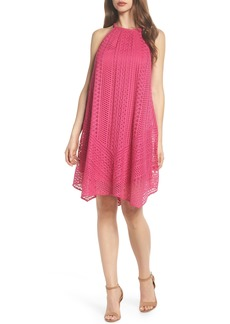 Maggy London Geo Lace Trapeze Dress (Regular & Petite)