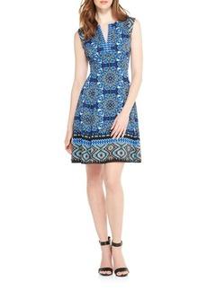 Maggy London Geometric A-Line Dress