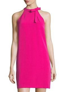 Maggy London Halter-Neck Bow-Tie Shift Day Dress
