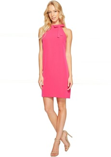 Maggy London Halter Shift Dress with Necktie