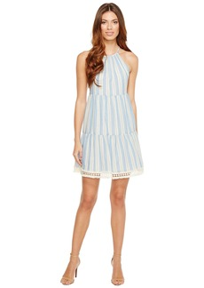 Maggy London Halter Shift Dress with Shirring