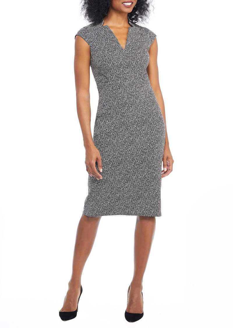 e6371c63 Maggy London Maggy London Herringbone Notch Cut Sheath Dress | Dresses
