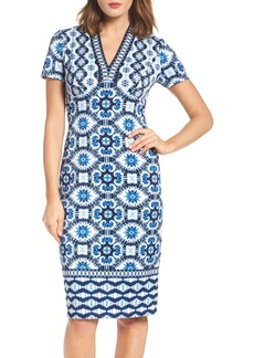 Maggy London Ikat Sheath Dress