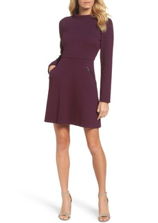 Maggy London Jacquard Fit & Flare Dress