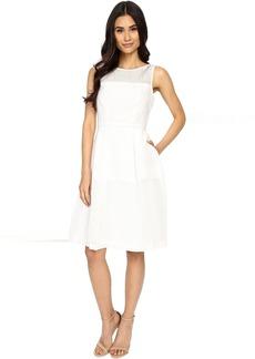 Jacquard Lino Stripe Fit and Flare Dress