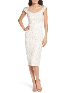 Maggy London Jacquard Midi Dress