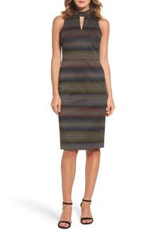 Maggy London Jacquard Sheath Dress