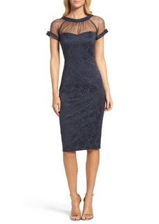 Maggy London Jacquard Sheath Dress (Regular & Petite)