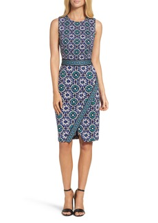 Maggy London Jewel Tile Jersey Sheath Dress