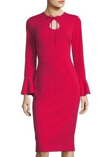 Maggy London Joanna Tie-Neck Sheath Cocktail Dress