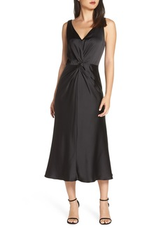 Maggy London Knot Front Satin Dress