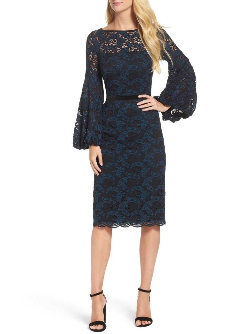 09231392 Maggy London Maggy London Lace Bishop Sleeve Dress