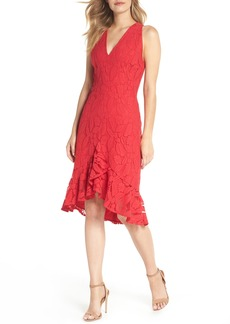 Maggy London Lace High/Low Dress (Regular & Petite)