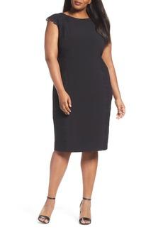 Maggy London Lace Side Sheath Dress (Plus Size)