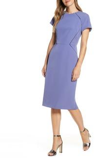 Maggy London Ladder Trim Sheath Dress (Regular & Petite)