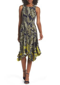Maggy London Leaf Print Dress