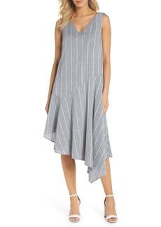 Maggy London Leno Stripe Asymmetrical Dress