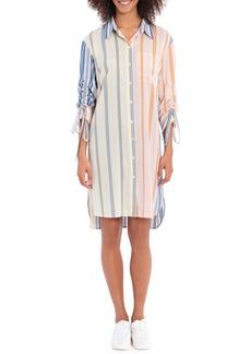Maggy London Long Sleeve Stripe Shirtdress