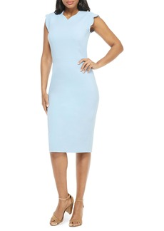 Maggy London Lucy Scallop Cap Sleeve Sheath Dress