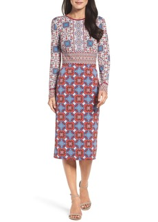 Maggy London Medallion Midi Dress