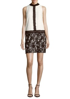 Maggy London Mockneck Lace Dress