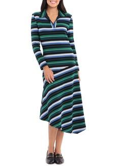 Maggy London Multi Stripe Long Sleeve Dress