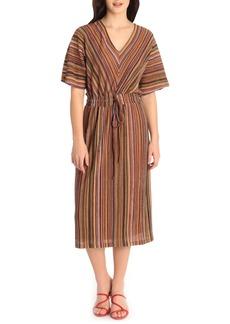 Maggy London Multistripe Midi Dress