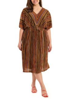 Maggy London Multistripe Midi Dress (Plus Size)