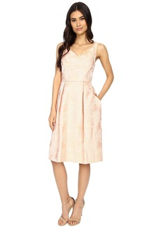 Maggy London Mum Jacquard Fit and Flare Dress
