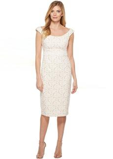 Maggy London Natural Bloom Jacquard Sheath Dress