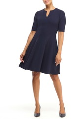 Maggy London Notch Neck Fit & Flare Dress