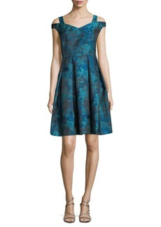 Maggy London Off-The-Shoulder Fit-&-Flare Dress