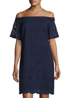 Maggy London Off-the-Shoulder Lace Dress