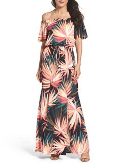 Maggy London Off the Shoulder Maxi Dress