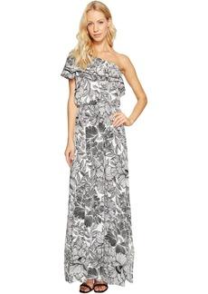 One-Shoulder Ruffle Maxi Dress
