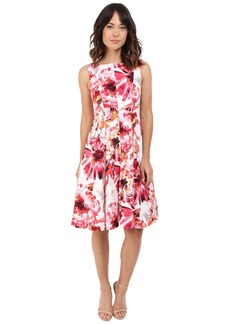 Maggy London Painted Floral Cotton Fit and Flare Dress