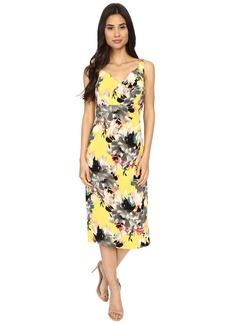 Maggy London Peony Bouquet Printed Crepe Sheath Dress