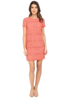 Maggy London Petal Stripe Lace Shift