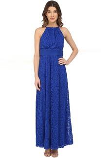 Maggy London Pintuck Drop Waist Maxi Dress