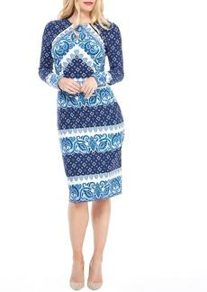 Maggy London Placement Print Sheath Dress (Regular & Petite)