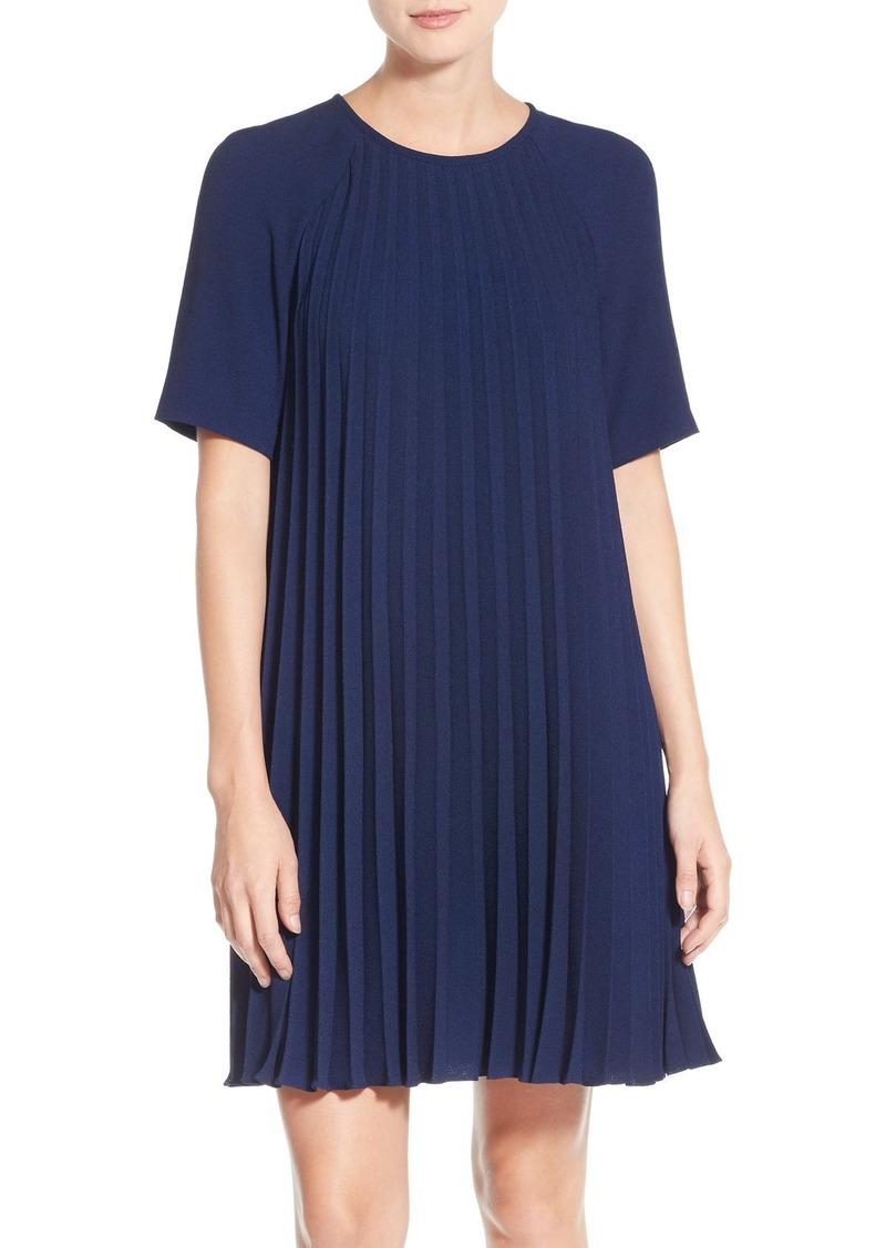 Maggy London Pleat Crepe Shift Dress