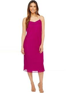 Pleated Texture Slip Dress