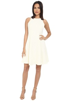 Maggy London Plume Plisse Fit and Flare Dress