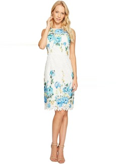 Maggy London Print Chemical Lace Sheath Dress