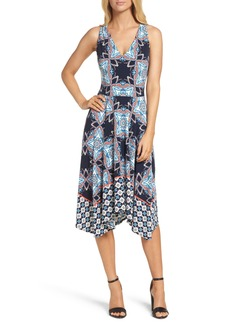 Maggy London Print Fit & Flare Dress (Regular & Petite)