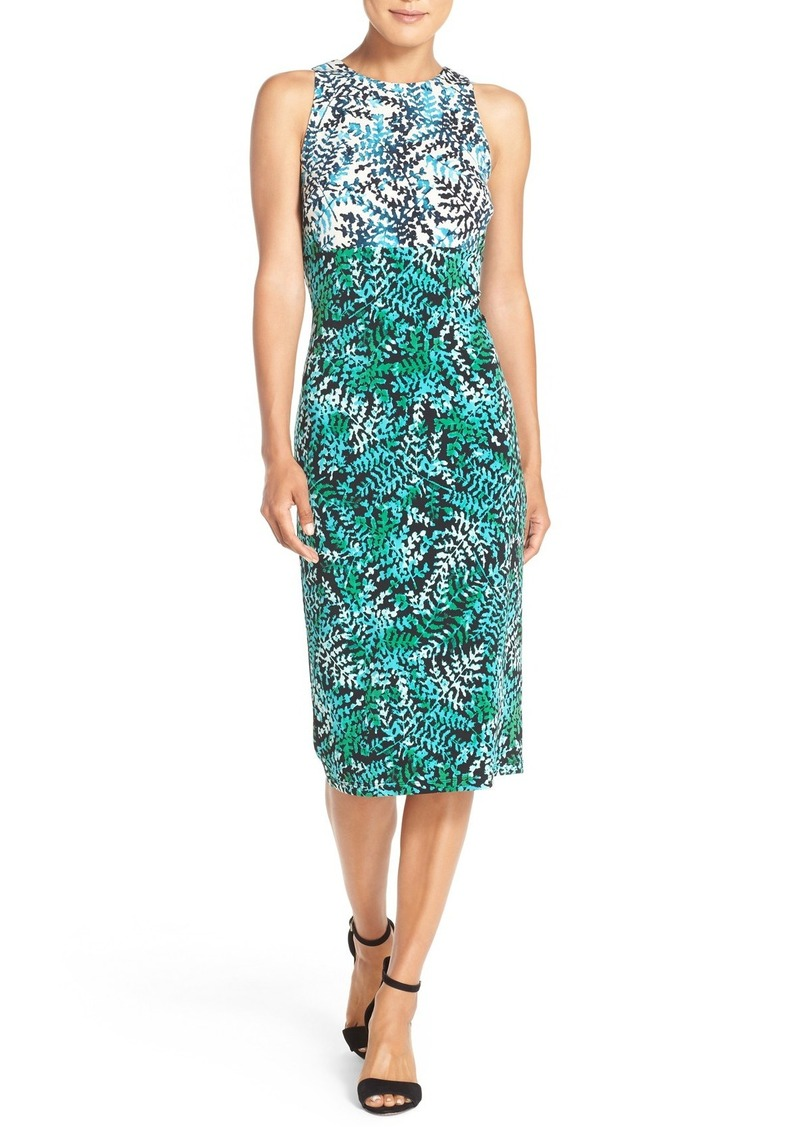 Maggy London Print Jersey Sheath Dress