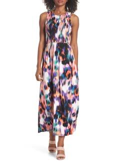 Maggy London Print Matte Jersey Maxi Dress