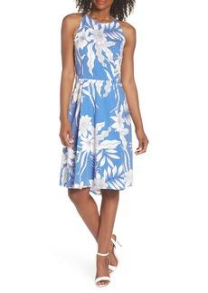 Maggy London Print Poplin Fit & Flare Dress