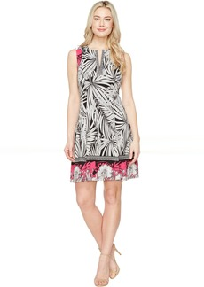 Maggy London Print Scuba Fit and Flare Dress