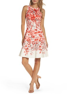 Maggy London Print Stretch Cotton Dress